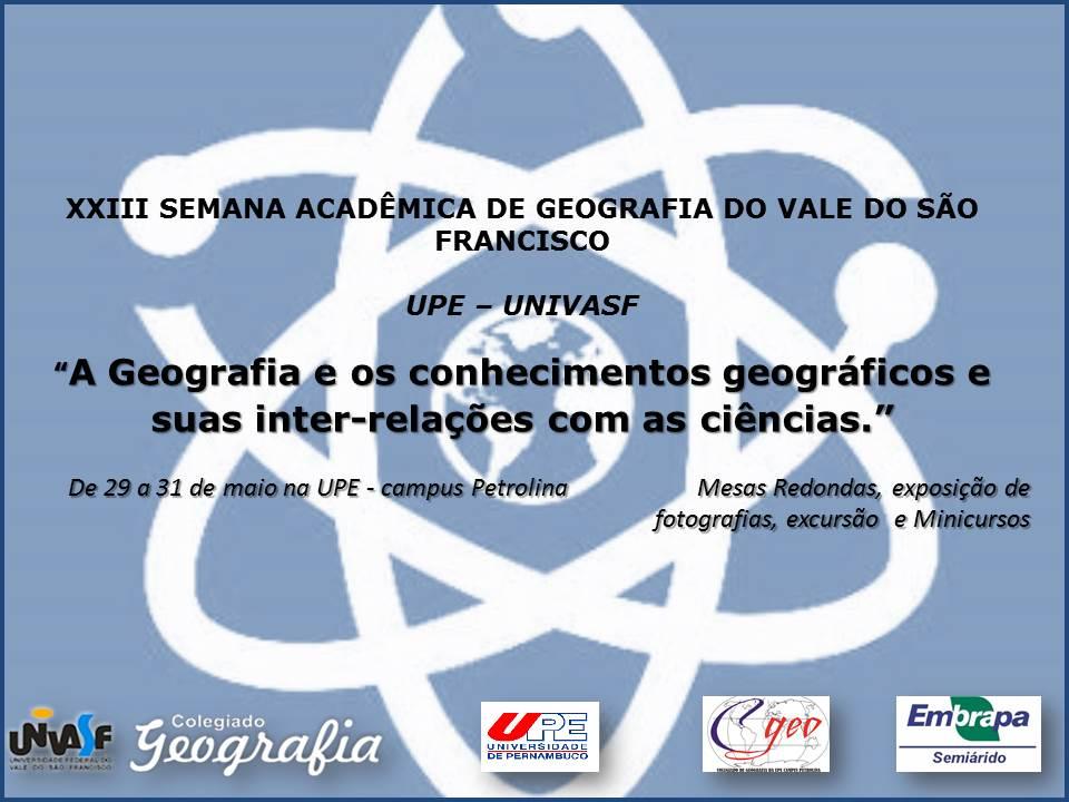 Semana da Geografia UPE & UNIVASF