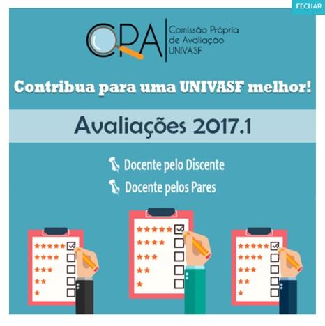 Avaliações CPA – UNIVASF