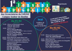 I Jornada Pedagógica das Licenciatura - UNIVASF - Senhor do Bonfim