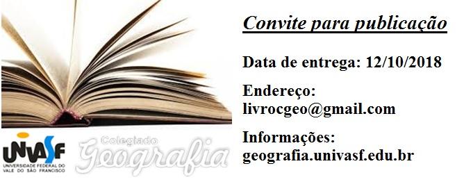 Convite publicação Capítulo de Livro